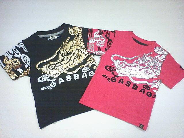 ☆セール☆GASBAG(ガスバッグ)★和柄のぼり龍箔プリントTシャツ