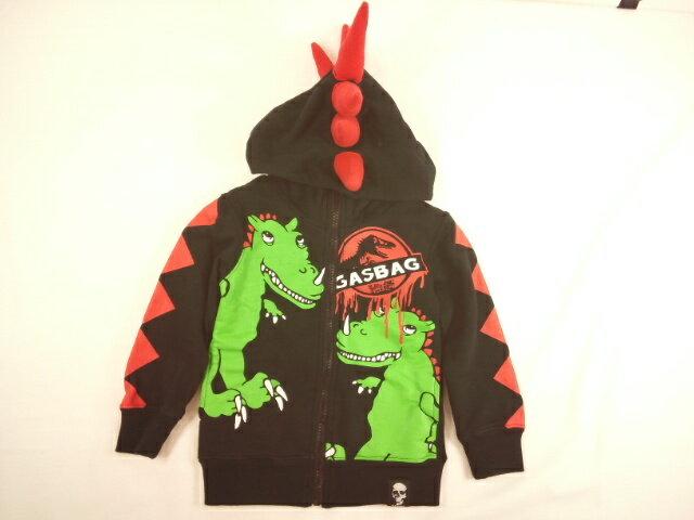 GASBAG(ガスバッグ)★トゲトゲフードT-REX恐竜パーカージャケット