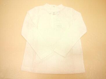 mezzopiano(メゾピアノ)透けにくいソフトレースハイネック長袖Tシャツ
