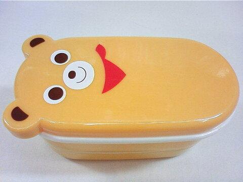 【単品での購入は不可となります】新作ブランド関係なくお買い上げ3万円以上〜MIKI HOUSEくまちゃん2段式ランチボックス