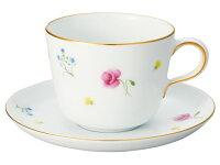 大倉陶園日本製【大倉陶園花だよりモーニングカップ&ソーサー26C/5181】洋食器陶磁器コーヒー紅茶ギフト贈り物贈答品引出物内祝いお祝い母の日敬老の日