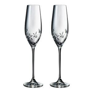 ナルミ NARUMI 【NARUMI(ナルミ) グラスワークス スターフラワー シャンパングラス ペア 約210cc GW4156-63392A】フルートグラス ペアグラス ご贈答 ギフト プレゼント お祝い 結婚祝い 内祝い
