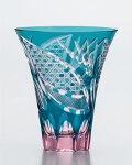 東洋佐々木ガラス【彩花切子タンブラー300ml(瑠璃)HG230-21GR】マイグラスロックグラスグラスタンブラー焼酎グラス緑色ご贈答ギフトプレゼント父の日