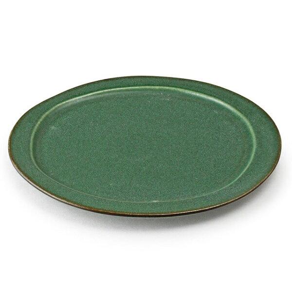 アイトー美濃焼日本製 翠(Sui)大皿翠まつば288037 おしゃれ大皿メインプレートワンプレート盛り皿和洋兼用緑グリーン松葉色