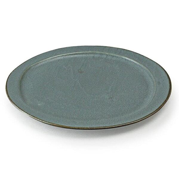 アイトー美濃焼日本製 翠(Sui)大皿翠空色ねず288039 おしゃれ大皿メインプレートワンプレート盛り皿和洋兼用グレーねずみ色