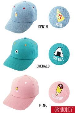 食べ物の刺繍がかわいい Eat Logo Cap(GRIN BUDDY)