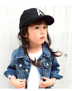 KidsWoolLogoCap(GRINBUDDY)帽子キッズ子供男の子女の子秋冬ウールロゴキャップ