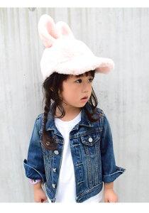 FluffyRabbitCap(GRINBUDDY)帽子キッズ子供男の子女の子秋冬うさぎCAPハロウィン仮装パーティー