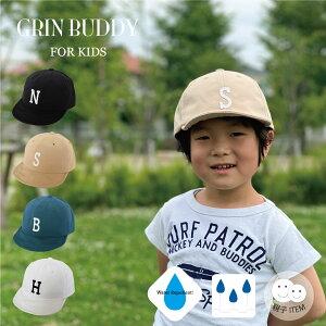 【1,500円以上メール便送料無料】Kids Nylon Logo Cap[ GRIN BUDDY ]通年使える落ち着いたカラーの6パネルキャップ [ 54cm キッズ 子供 帽子 ロゴキャップ イニシャルキャップ 撥水 春 夏 ]