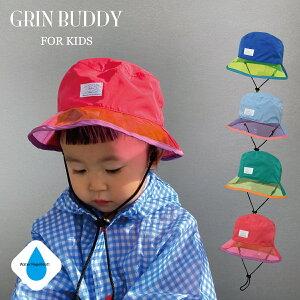 【マラソン期間中ポイントアップ】【1,500円以上メール便送料無料】Rain PVC Hat[ GRIN BUDDY ] つばの部分がビニール素材で視界も良好。雨の日が楽しくなる、カラフルなレインハット。