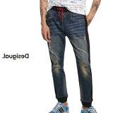 Desigual デシグアル メンズ パンツ ボトム ズボン デニム&スウェット 異素材MIX インポート 父の日 ファッション 30代 40代 50代【ネイビー】【28/30/32/34/小さいサイズ/大きいサイズ】【完売商品】