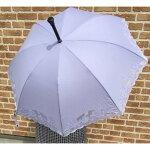 杖傘晴雨兼用婦人バラ柄パープル894敬老の日プレゼントおじいちゃん敬老の日プレゼント孫敬老の日杖傘兼用