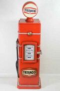 レトロなガソリンスタンド型BOX/レッド/(高さ:83.0cm)