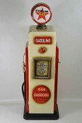 レトロなガソリンスタンド型BOX/アイボリー/(高さ:85.0cm)