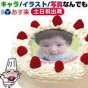 ★5号 4〜6人 丸 生クリーム 15cm お誕生日ケーキ バースデーケーキ 写真 ケーキ 写真ケー ...