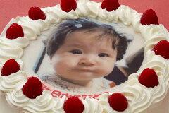 誕生日ケーキや記念日/お祝い・パーティに♪【写真ケーキ/バースデイケーキ】写真ケーキ(丸)...