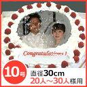 写真ケーキ(丸) 10号 生クリーム【冷凍 到着後は冷蔵庫で...