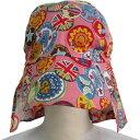 UVカット帽子【ふんわりサンハット】ワッペンピンク(子ども用の紫外線対策帽子) 赤ちゃん 子供 沖縄子育て良品 2