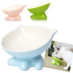 猫食器陶器猫用フードボウルねこ食事皿ペット餌入れペット用水入れ食べこぼし防止