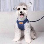 犬ハーネス小型犬中型犬犬用リードいぬ胴輪子犬引き紐ペット首輪デニム