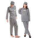 囚人服 囚人 コスプレ メンズ 衣装 レディース パジャマ コスチューム 男 長袖 女