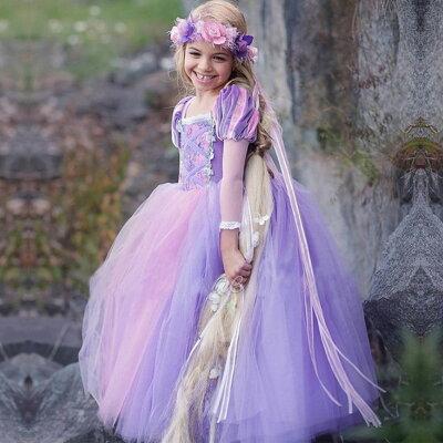 ラプンツェル ドレス キッズ 子供 衣装 プリンセス コスチューム コスプレ ハロウィン クリスマス お姫様 コス 仮装 女の子 画像2