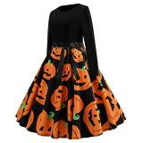 ハロウィン ワンピース レディース 可愛い 魔女 コスプレ イベント コスチューム 長袖 ハロウィンコス パーティー 衣装 ドレス