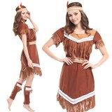インディアン コスプレ ハロウィン コスチューム 仮装 民族衣装 女性