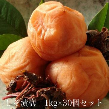 しそ漬梅1kg × 30個セット 【和歌山県産】 【10P03Aug09】