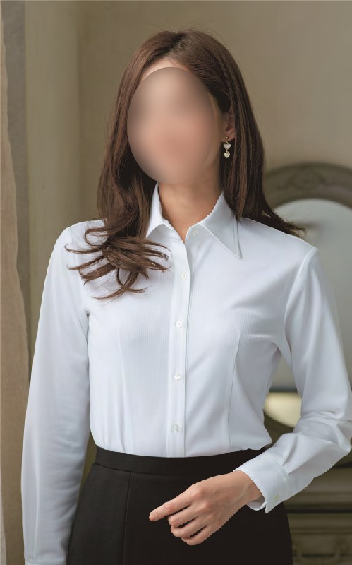 【06165】【enjoie/アンジョア】【女性用/レディース】事務服 半袖 ブラウス シャツ かっこいい系 ホームクリーニング