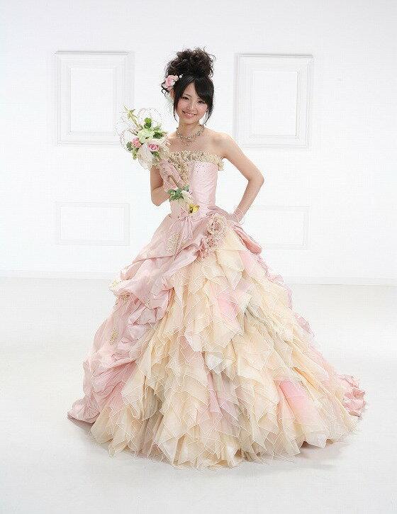 ドレス ウェデイングドレス 送料無料レンタルドレス ドレス結婚式ドレスレンタル カラードレス花嫁 bck-1