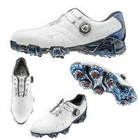 ●ミズノゴルフシューズ【メンズ】GENEM/ジュネム006ボア22:ホワイト×ブルー