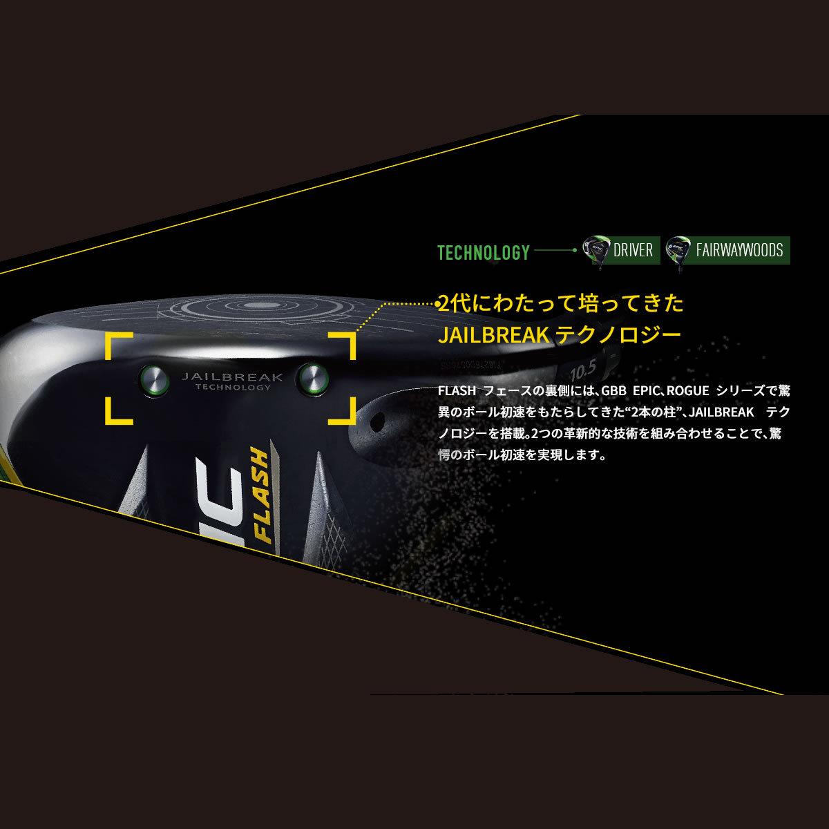 【左打用・レフティモデル】キャロウェイゴルフEPIC FLASH STAR DRIVERエピック フラッシュ スター ドライバー[日本仕様]カスタム シャフト