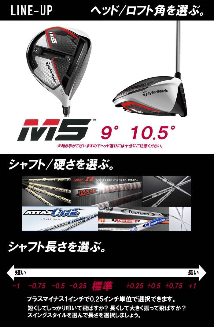 JPモデル 2019 M5 ドライバー テーラーメイド