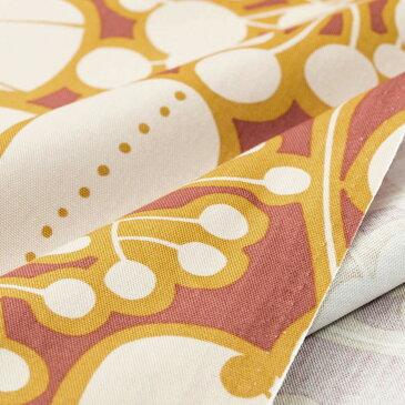 オックス生地 Remo オレンジ 150cm幅 [10cm単位販売] 大柄 プリント ワイド幅 コットン 綿 切り売り