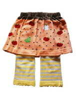 【送料無料】スカート付スパッツ2枚組★ナチュラル柄★こだわりの一品!キッズベビースカート付きスパッツ1000円ポッキリ