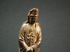 小さい観音菩薩像 約9cm 木製 お守り 御本尊様 祈願 受験 合格 恋愛 安産 病気平癒 の…