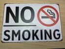 NOSMOKINGアメリカンレトロブリキ風看板(約30cmX20cm)喫煙禁止禁煙です送料無料