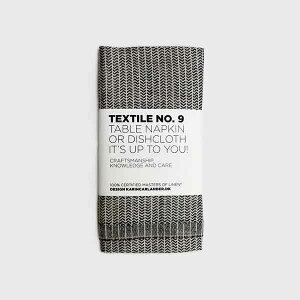 【TEXTILE No.9】(カリンカーランダー)ディッシュクロス 50x25 yinyang ブラックxホワイト/北欧デザイン/天然素材/麻100%/麻ふきん/キッチンタオル