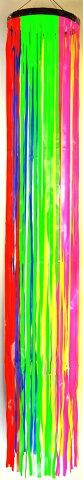 【七夕】七夕吹流しtf-0646尺ビニール五色吹き流し長さ180cm※五色の色目が綺麗です。※緑の部分は濃い物になる場合があります。画像は明るい緑(メロン色)