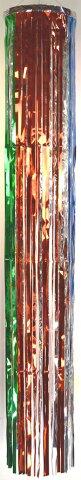 【七夕】七夕吹流しtf-0656尺メッキ五色吹き流し長さ180cm※メッキタイプの五色の色目が綺麗です。(裏面は銀色)※上部の輪の色が変更になります。