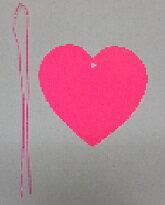 【七夕】七夕短冊tt-210ハート型短冊(大)W12.5×H12.5cm紐付き(ピンク色)