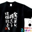 おもしろtシャツ 漢字 文字「実はオレ、痔という爆弾抱えてる」メッセージTシャツ ティーシャツ ギフト プレゼント ka300-09 KOUFUKUYAブランド