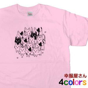 猫派のための半袖Tシャツ。ネコ派の方にオススメ「ニャモフェスティバル」半袖Tシャツ(メンズ・...