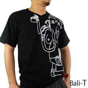 神々が住む島「バリ島」メイド半袖Tシャツ。Bali Teeバリ島ブランド 心癒されるデザイン「Big G...