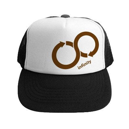 帽子でリサイクルメッセージ「Infinity -インフィニティ-」(メッシュキャップ) CAP-MS27 KOUFUKUYAブランド