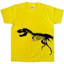 T-REX 手描き恐竜ボーンTシャツ 「ティラノサウルス」ハロウィンの衣装にも! am20K KOU ...