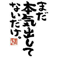 おもしろtシャツ漢字文字「まだ本気出してないだけ」ティーシャツギフトプレゼントka300-03KOUFUKUYAブランド