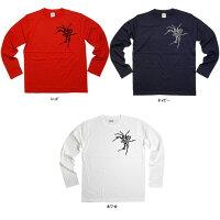 トライバル柄「Spider(クモ・蜘蛛)Type-B」Tシャツ(ロング・長袖Tシャツ)トライバル・タトゥースパイダーデザイン・当店オリジナルプリントTシャツLT-AM35