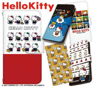 ★ 支持iPhone7情况Xperia xz智慧型手機情况筆記本型全機種的Hello Kitty Hello Kitty三麗鷗公認執照(智慧型手機zenfone ekusuperia輕鬆打扮,設計iPhone 7 iphone6s plus AQUOS arrows)
